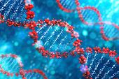 picture of gene  - DNA background - JPG