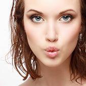 Pretty Sensual Summer Gir With Natural Make-up
