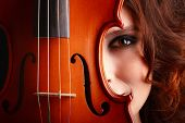 Beautiful Young Girl With Violin