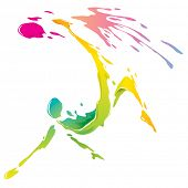 Paint splashing - Bicycle kick