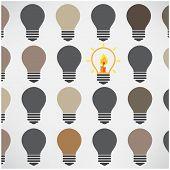 Creative Light Bulbs on Background