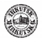 Irkutsk grunge rubber stamp