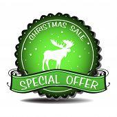 Christmas sale green badge