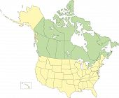 USA and Canada, States and Provinces