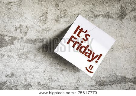 Its Friday on Paper Note