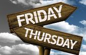 stock photo of thursday  - Time concept on wooden sign - JPG