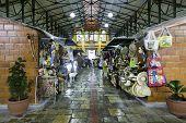 MANAUS, BRAZIL - CIRCA FEB 2014: The famous Mercado Municipal Adolfo Lisboa in Manaus, Brazil