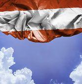 Austria waving flag on a beautiful day