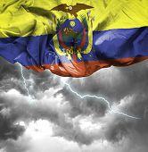Ecuador waving flag on a bad day