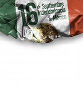 September, 16 Independence of Mexico - 16 de Septiembre, Independencia do Mexico on white background