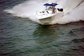 White Sport Fishing Boat