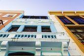 Colorful houses in Pernambuco, Brazil