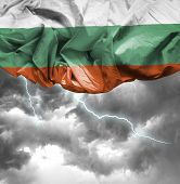 Bulgaria waving flag on a bad day