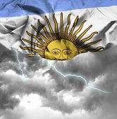 Argentina waving flag on a bad day