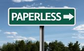 Paperless creative sign