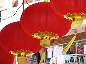 Chinese Lanterns And Clothes