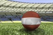 Soccer ball of Austria on the field