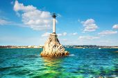 Monument to the flooded ships in Sevastopol