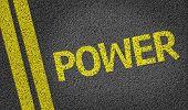 Power written on the road