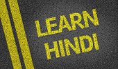 Learn Hindi written on the road
