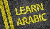 Learn Arabic written on the road