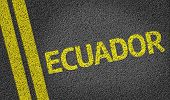 Ecuador written on the road