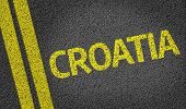 stock photo of velika  - Croatia written on the road - JPG