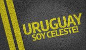 Uruguay, Soy Celeste! written on the road (in spanish)
