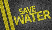 Save Water written on the road