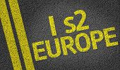 I s2 Europe written on the road