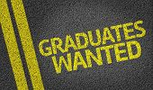 Graduates Wanted written on the road