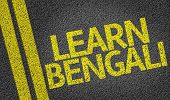 Learn Bengali written on the road