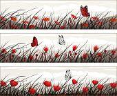 Bandera de mariposa negro-blanco-rojo