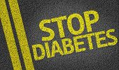 Stop Diabetes written on the road