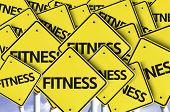Fitness written on multiple road sign