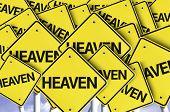 Heaven written on multiple road sign
