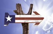 Liberia wooden sign on a beautiful day