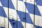 Bavaria flag on wooden background