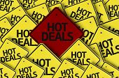 Hot Deals written on multiple road sign