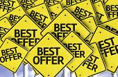 Best Offer written on multiple road sign