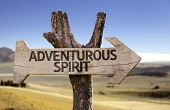Adventurous Spirit wooden sign with a desert background