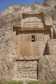 foto of xerxes  - Grave of king Daeiros carved in rock near Persepolis - JPG