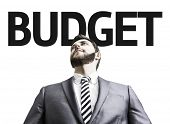 Business man with the text Budget in a concept image
