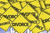 Divorce written on multiple road sign