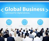 Business People Global Business Seminar Concept