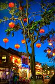 Hoi An old town, Vietnam. Traditional decorative lamps lanterns