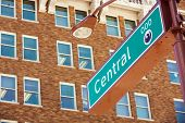 Central Street Sign In Phoenix