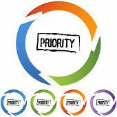 stock photo of priorities  - Priority icon image isolated on a white background - JPG