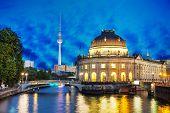 Berlin Cityscape In The Night