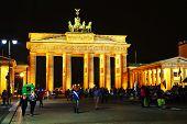Brandenburg Gate In The Night